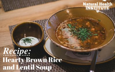 Hearty Brown Rice and Lentil Soup
